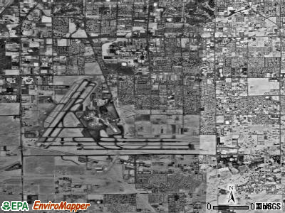 Zip code 89119 satellite photo by USGS