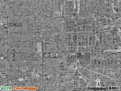 Zip code 90002 satellite photo by USGS