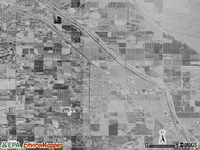Zip code 92236 satellite photo by USGS