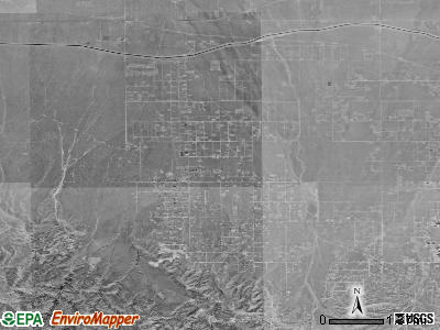 Zip code 92372 satellite photo by USGS