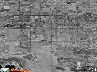 Zip code 92543 satellite photo by USGS