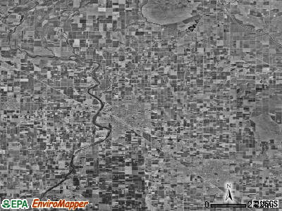Zip code 93654 satellite photo by USGS