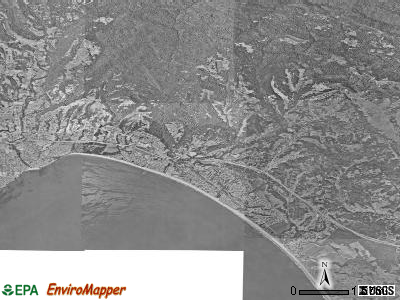Zip code 95003 satellite photo by USGS