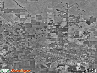 Zip code 95348 satellite photo by USGS