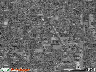 Zip code 95824 satellite photo by USGS