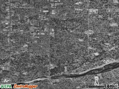 Zip code 95864 satellite photo by USGS