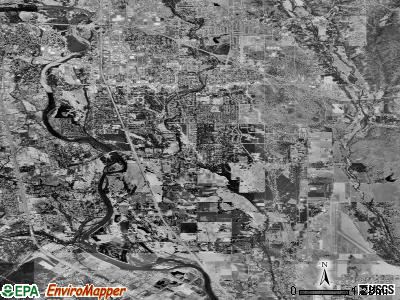 Zip code 96002 satellite photo by USGS