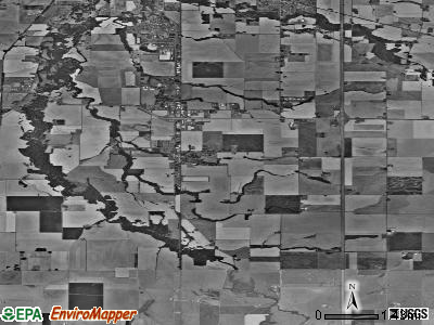 Zip code 97389 satellite photo by USGS
