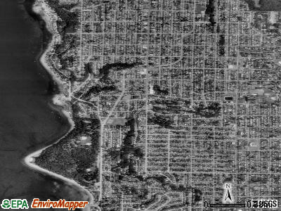 Zip code 98136 satellite photo by USGS