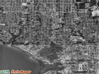 Zip code 98146 satellite photo by USGS
