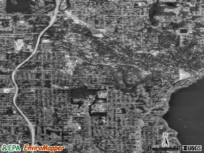 Zip code 98155 satellite photo by USGS