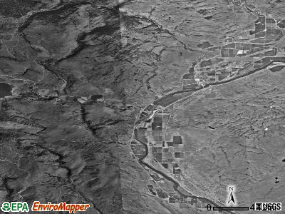 Zip code 98823 satellite photo by USGS