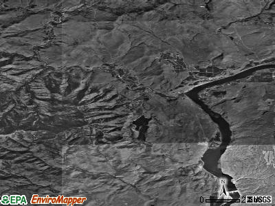 Zip code 98846 satellite photo by USGS