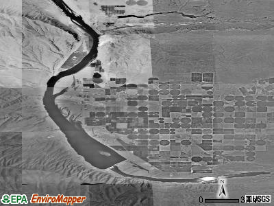 Zip code 99349 satellite photo by USGS