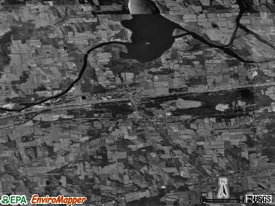 Zip code 13080 satellite photo by USGS