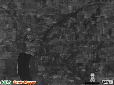 Zip code 14466 satellite photo by USGS