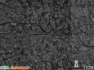 Zip code 14522 satellite photo by USGS