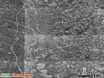 Zip code 16101 satellite photo by USGS