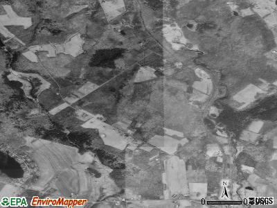 Zip code 18430 satellite photo by USGS
