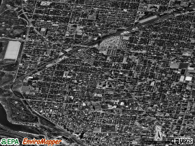 Zip code 19121 satellite photo by USGS