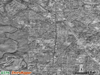 Zip code 20012 satellite photo by USGS