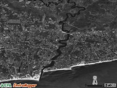 Zip code 02671 satellite photo by USGS
