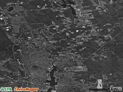 Zip code 02743 satellite photo by USGS