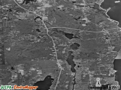 Zip code 02874 satellite photo by USGS