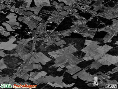 Zip code 23418 satellite photo by USGS