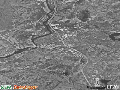 Zip code 03256 satellite photo by USGS