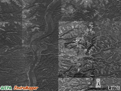 Zip code 26003 satellite photo by USGS