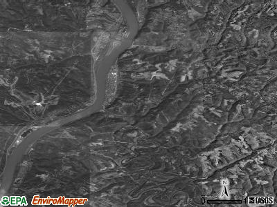 Zip code 26070 satellite photo by USGS