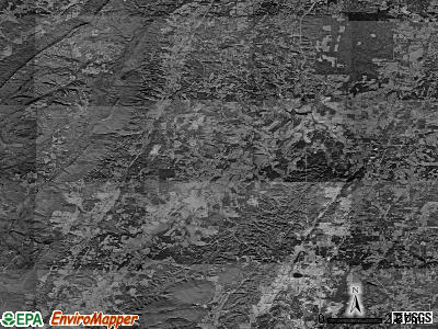 Zip code 30707 satellite photo by USGS
