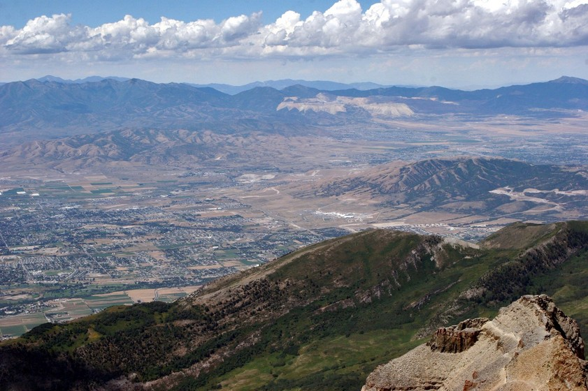 American Fork, UT: View of American Fork from Mt. Timpanogos