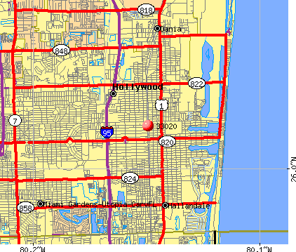 Hollywood Florida Map Hollywood Florida Zip Code Map | Zip Code MAP Hollywood Florida Map