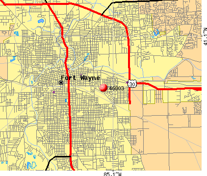 Fort Wayne Zip Code Map Fort Wayne Indiana Zip Code Map | Time Zone Map