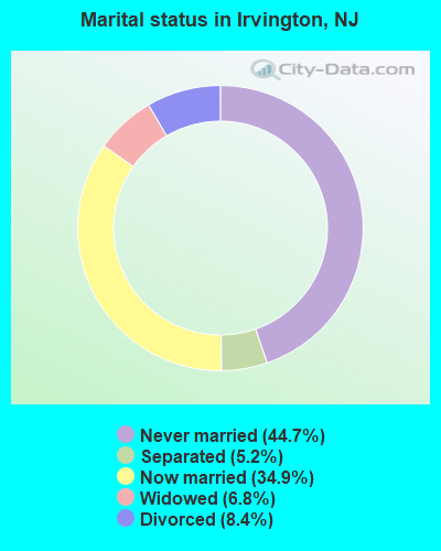 Marital status in Irvington, NJ