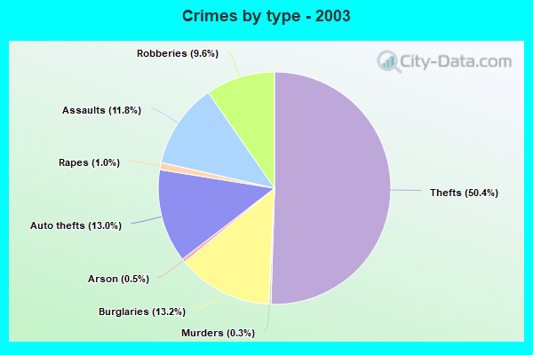 Crimes by type - 2003