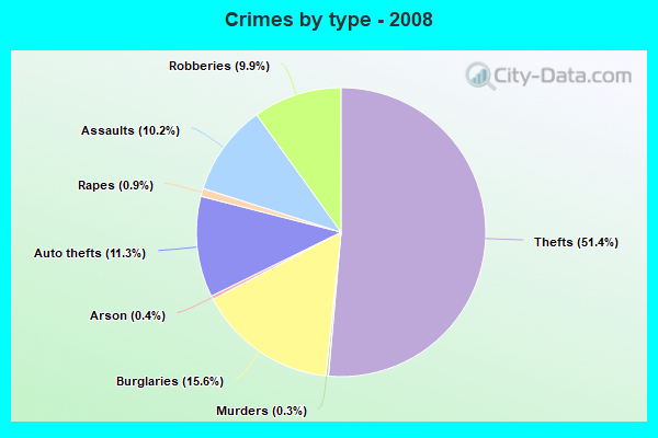Crimes by type - 2008