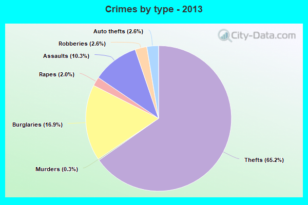 Crimes by type - 2013