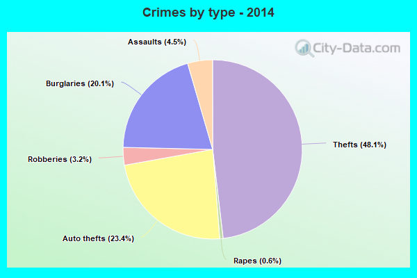 Crimes by type - 2014