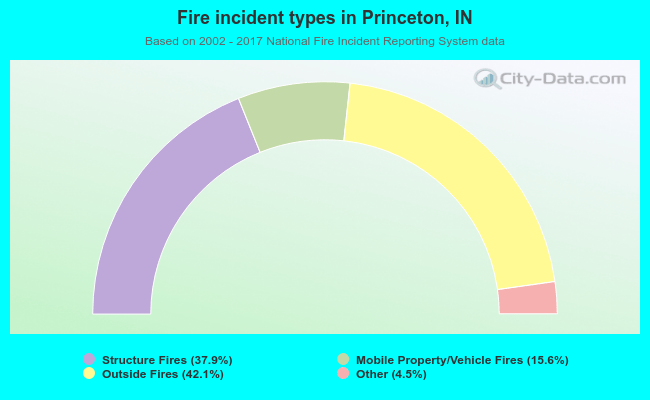Fire incident types in Princeton, IN