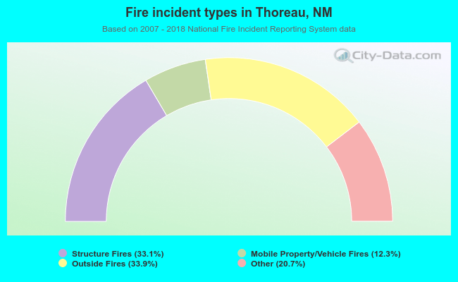 Fire incident types in Thoreau, NM