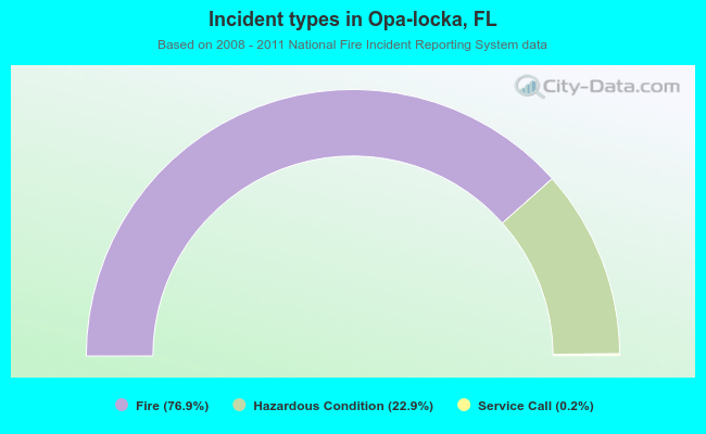Incident types in Opa-locka, FL