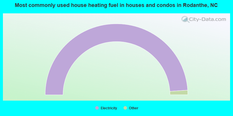 Most commonly used house heating fuel in houses and condos in Rodanthe, NC