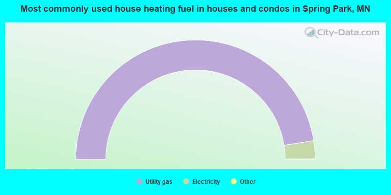 Most commonly used house heating fuel in houses and condos in Spring Park, MN
