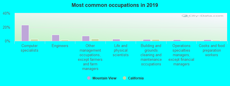 Most common occupations in 2019
