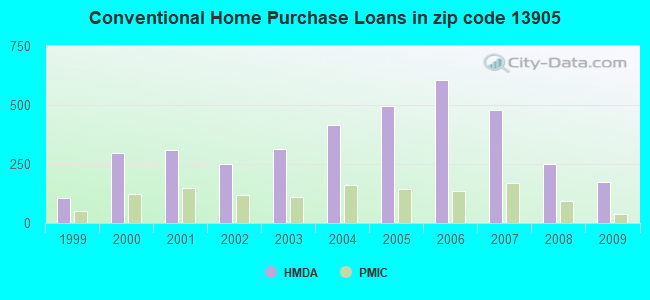 Conventional Home Purchase Loans in zip code 13905