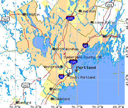 Cumberland County, ME map