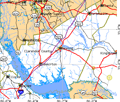 Clarendon County, SC map